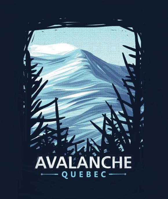 AvQc T-shirt carré