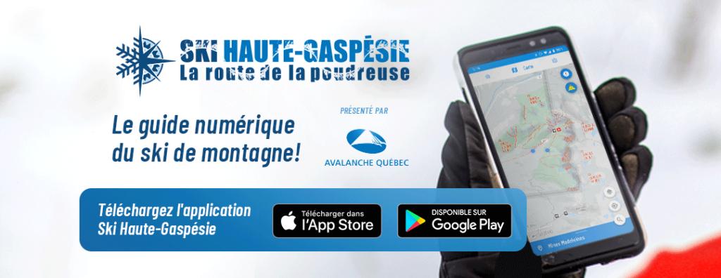 Application mobile bannière de l'application sur un cellulaire