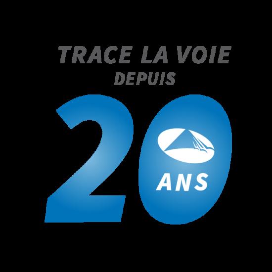 Logo 20 ans AvQc Trace la voie