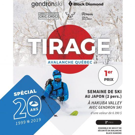 TIRAGE AVALANCHE SPÉCIAL 20 ANS